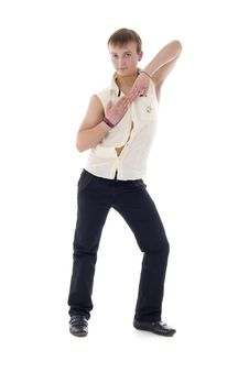 Free Dancing Young Macho Royalty Free Stock Photography - 7704817