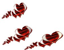 Free Red Hearts Background Stock Photography - 7705492