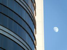 Free Skyscraper And Moon Stock Photography - 7706482