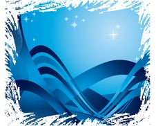 Free Blue Ribbons And Stars Stock Photography - 7706882