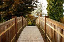 Botanical Garden Bridge In Autumn Royalty Free Stock Image