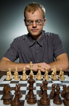 Free Thoughtful Chess Master Stock Image - 7707621