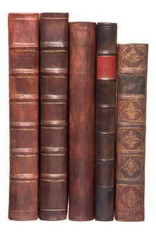 Free Old Leather Bound Books Royalty Free Stock Photos - 7707738