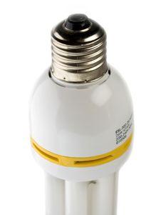 Fluorescent Energy-saving Lamp Royalty Free Stock Photography