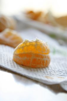 Peeled Clementine Orange Royalty Free Stock Photography