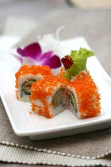 Prepared And Delicious Sushi Taken In Studio Royalty Free Stock Photo
