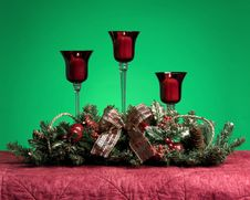 Free Three Christmas Candles Stock Photography - 7709232