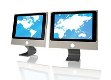 Free Monitor World Royalty Free Stock Images - 7709609