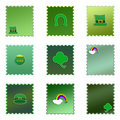 Free Set Of Isolated Colored St. Patrick S Day Stamps Stock Photography - 7710032