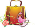 Free Womanish Bag In A Gift To The Day Of Valentine Royalty Free Stock Photo - 7713325
