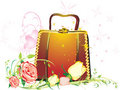 Free Womanish Bag With Bouquet Of Roses Royalty Free Stock Photography - 7713337