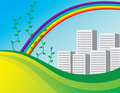 Free The Bright Rainbow Over The City Stock Photography - 7714232