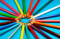 Free Circle Of Pencil Crayons Stock Photography - 7719972