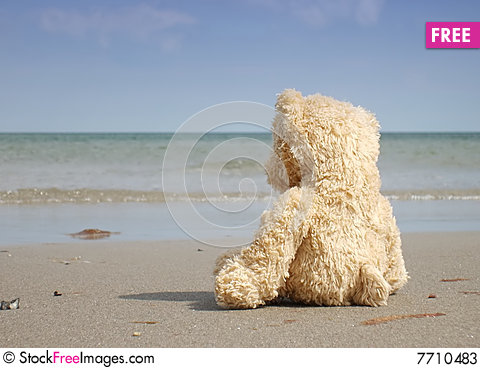 Free Alone And Depressed At The Beach Stock Photos - 7710483