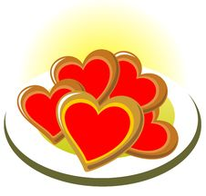 Valentines Cookies Royalty Free Stock Image