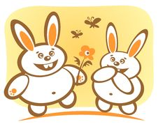 Free Happy Rabbits Stock Photo - 7710150