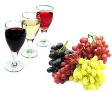 Free Wine And Fruit Stock Image - 7710361