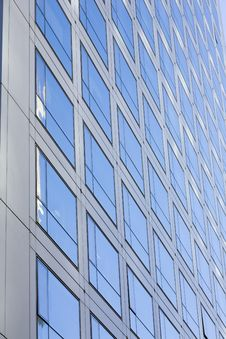 Windows By Modern Building Royalty Free Stock Photography
