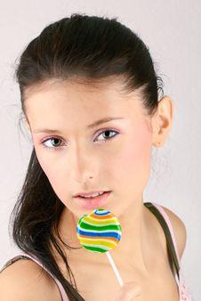 Free Lollipop Girl Stock Photo - 7710910
