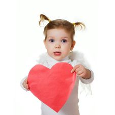 Free Cupid With Heart Royalty Free Stock Photos - 7710958