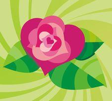 Free Stylized Background With Rose Stock Photo - 7711470