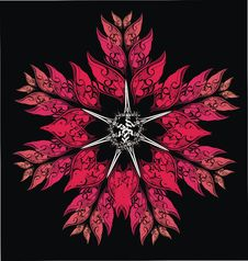 Free Red Vector Flower From Wings And Swords Stock Photos - 7712213
