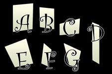 Dark Fable Alphabet Part 1 Stock Photography