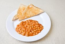 Free Delicious Baked Beans On Toast Stock Image - 7712461