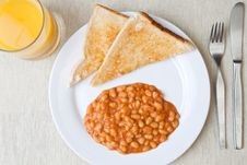 Free Delicious Baked Beans On Toast Stock Photos - 7712553