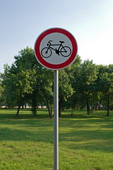 Free Bike Path Sign Stock Photo - 7712560