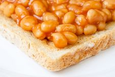 Free Delicious Baked Beans On Toast Stock Photography - 7712572