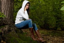 Free Woman On Forest Royalty Free Stock Images - 7712579