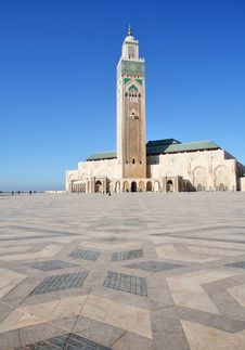 The Mosque Of Hassan II Royalty Free Stock Image
