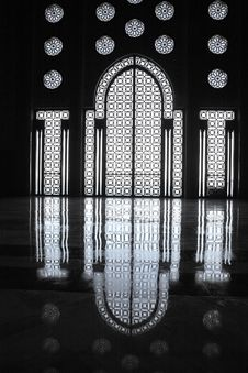 Free Interiors Of The Mosque Of Hassan II Stock Image - 7712631