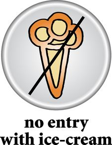 Free No Ice-cream Sign Stock Photography - 7712692