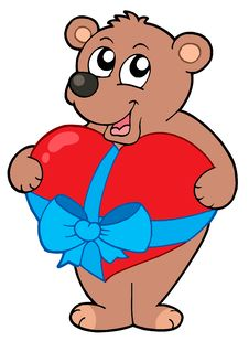Free Valentine Bear With Heart Stock Images - 7712694