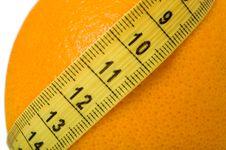 Free Orange With Measuring Tape Stock Image - 7712741