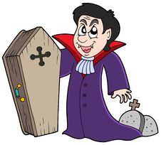 Free Vampire With Coffin And Graves Royalty Free Stock Photos - 7712768