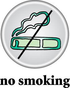 No Smoking Place Sign Stock Photo