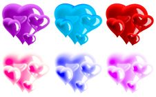 Free Beautiful Hearts Royalty Free Stock Images - 7712849