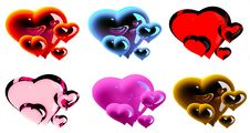 Free Beautiful Hearts Stock Photography - 7712852