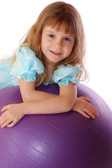 Free A Girl With A Ball Stock Photography - 7713522