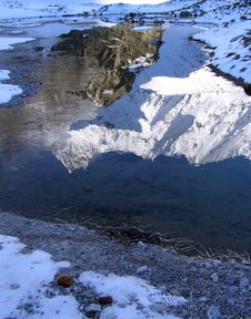 Free Reflection In Mountain Lake Royalty Free Stock Images - 7713539