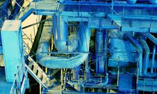 Free Pipes, Tubes, Machinery And Steam Turbine Royalty Free Stock Images - 7713719