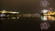 Free Festive New Year 2009 Fireworks Stock Photo - 7713790