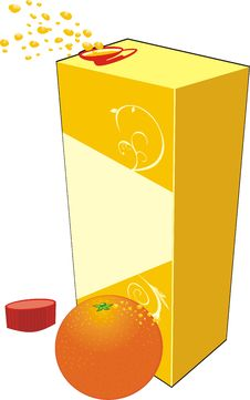 Free Orange And Opened Packing With Juice Royalty Free Stock Photography - 7713827