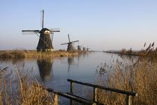 Mills Of Kinderdijk Stock Photos