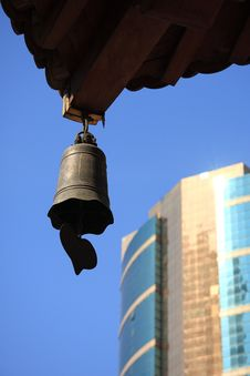 Free Temple Bell And Building Stock Photos - 7714163