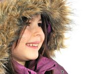 Free Winter Cutie-portrait Of A Young Girl In A Hood Royalty Free Stock Image - 7714286