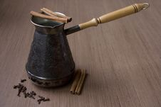Coffee Pot With Cloves And  Cinnamon
